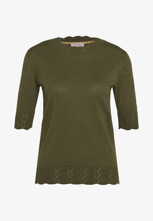 ESSENTIAL - T-shirts med print - winter moss