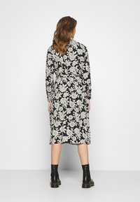 JDY - BARCELONA  - Košilové šaty - black/white - 2