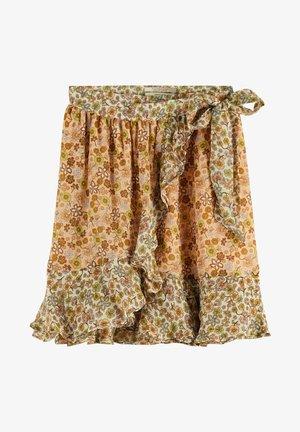 Wrap skirt - brown