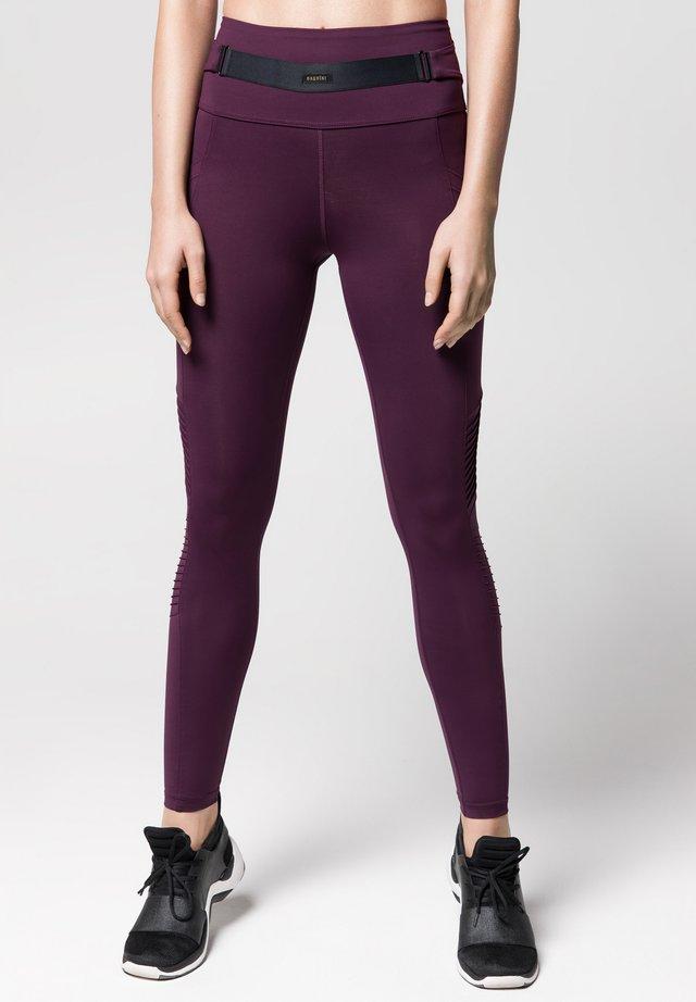 MOTO - Leggings - Trousers - mulberry