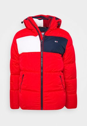 COLORBLOCK PADDED JACKET - Kurtka zimowa - deep crimson