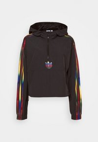 adidas Originals - PAOLINA RUSSO CROPPED HALFZIP - Windbreaker - black - 4