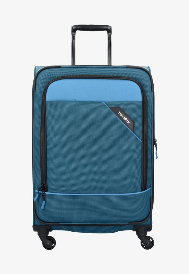 DERBY - Wheeled suitcase - blue