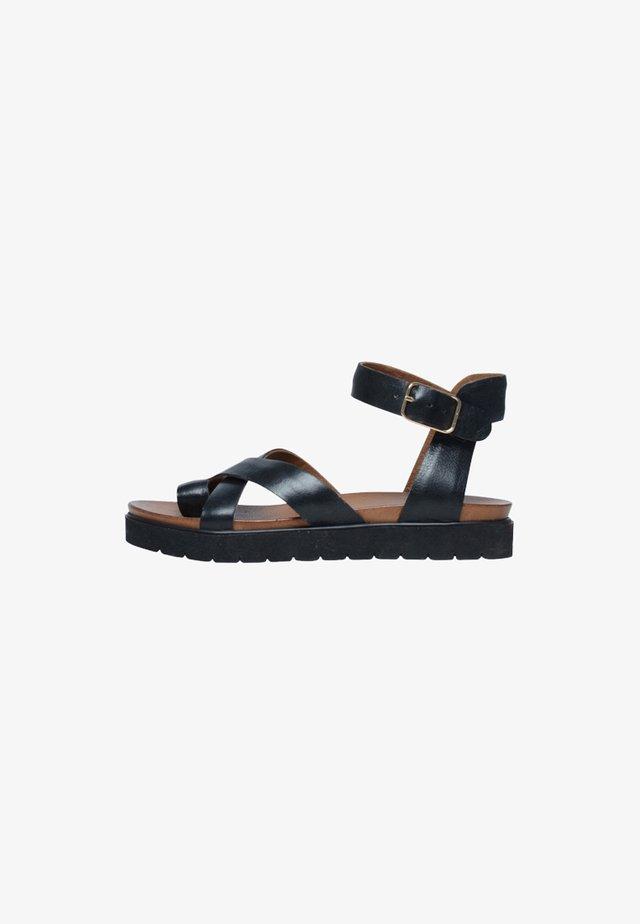 Sandales à plateforme - schwarz