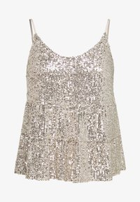 Dorothy Perkins Petite - TIERED SEQUIN CAMI - Top - silver - 3