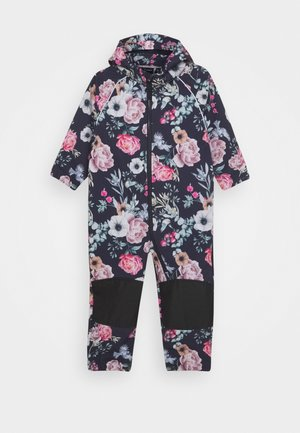 NMFALFA SUIT ROMATIC FLOWER - Rainsuit - dark sapphire