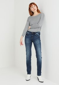 TOM TAILOR - ALEXA - Straight leg jeans - mid stone wash denim blue - 2
