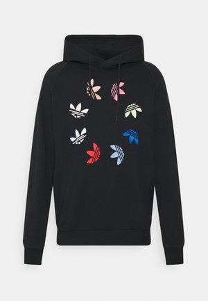 HOODY - Sweatshirt - black/multicolor