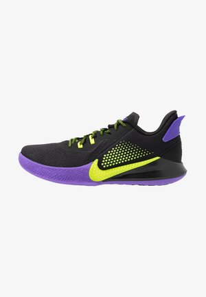 MAMBA FURY - Basketball shoes - black/lemon/psychic purple