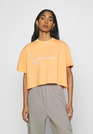SIGNATURE TEE - T-shirt print - light orange