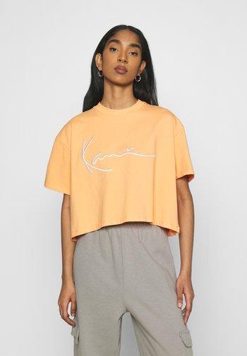 SIGNATURE TEE - T-shirt imprimé - light orange