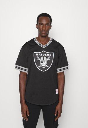 NFL OAKLAND RAIDERS UNBEATEN V NECK - Squadra - black