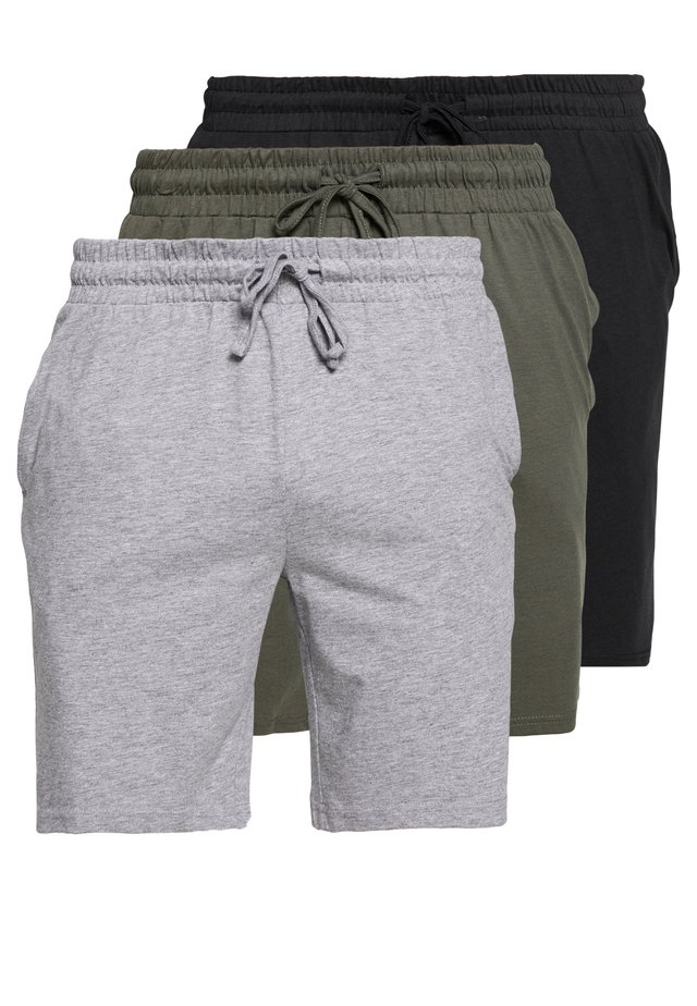 3 PACK - Bas de pyjama - black/mottled grey