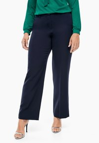 Triangle - REGULAR FIT: STRAIGHT LEG-HOSE - Trousers - navy - 0