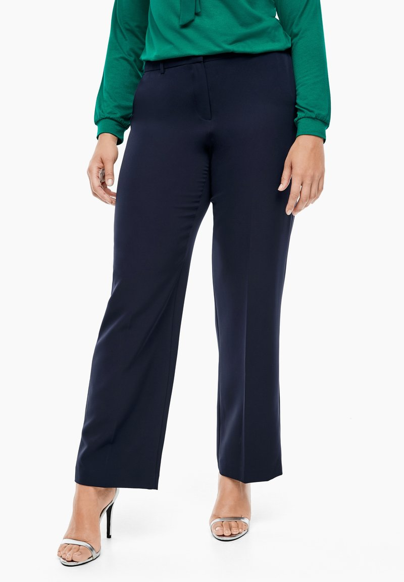 Triangle - REGULAR FIT: STRAIGHT LEG-HOSE - Trousers - navy