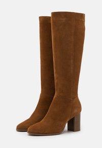 Anna Field - LEATHER - Vysoká obuv - beige - 2