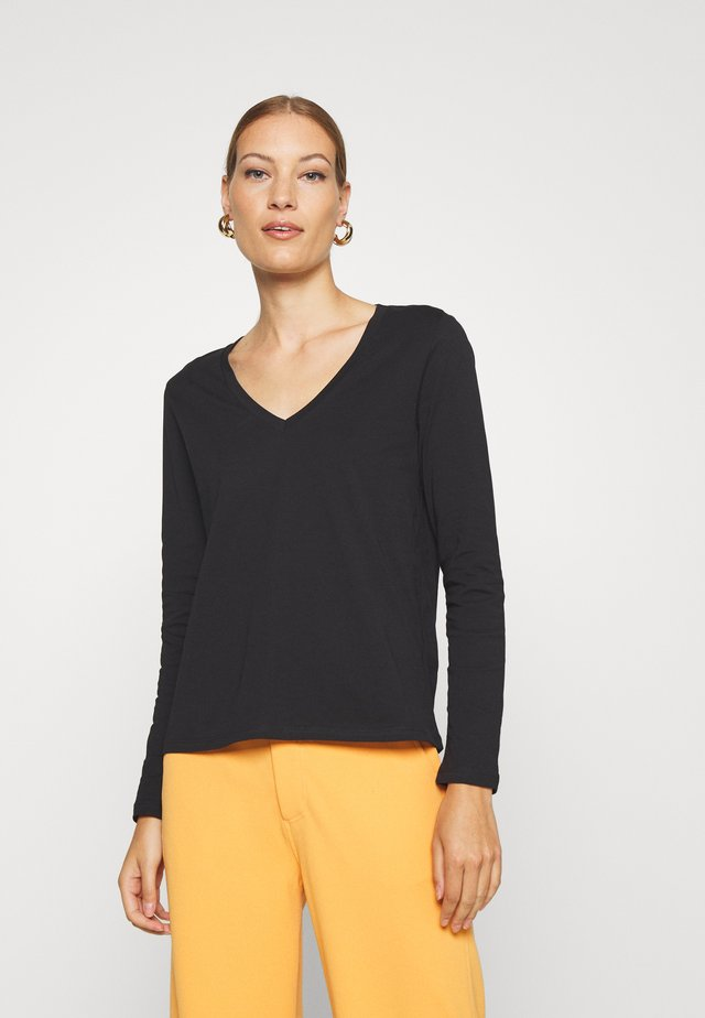 HERMIONELN LONG SLEEVE - Long sleeved top - pitch black
