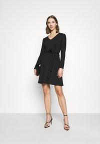 Object - OBJSAVA L/S V-NECK NOOS - Day dress - black - 1