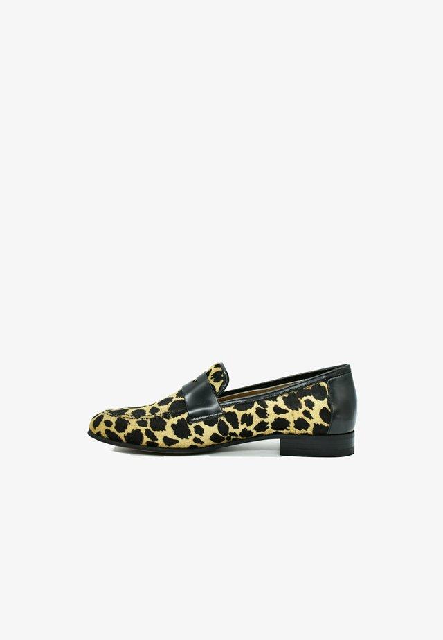 Mocassins - leopard yellow