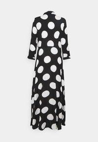 YAS - YASSAVANNA DOT LONG SHIRT DRESS - Maxi dress - black/white - 7