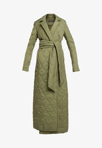 House of Holland - LONGLINE QUILTED TAILORED - Cappotto classico - khaki - 4