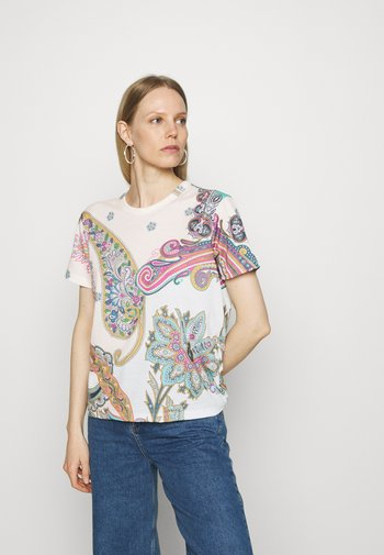 POPASLEY - T-shirts med print - white
