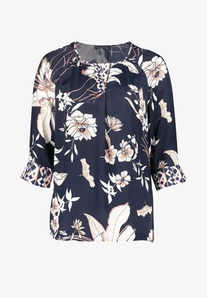 Blouse - dark blue-rosé