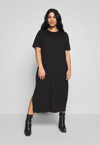 Zign Curvy - CURVY MIDI - Jersey dress - black - 0