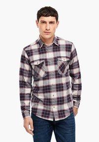 s.Oliver - Shirt - offwhite check - 0