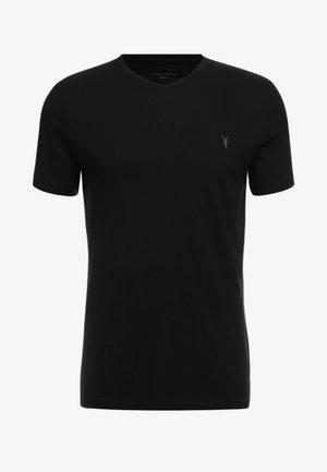 TONIC V-NECK - Basic T-shirt - jet black