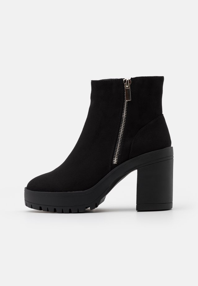 BRELLA ZIP CHUNKY  - Bottines à plateau - black