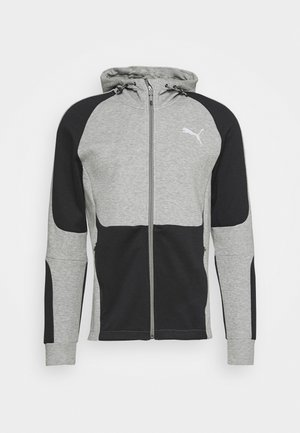 EVOSTRIPE HOODIE - veste en sweat zippée - medium gray heather