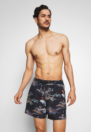 TROPICAL - Badeshorts - black/blue