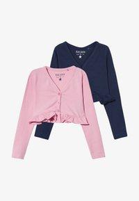 Blue Seven - BOLERO 2 PACK - Vest - rosa/dunkelblau - 3