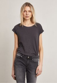 Hunkydory - Basic T-shirt - charcoal - 0