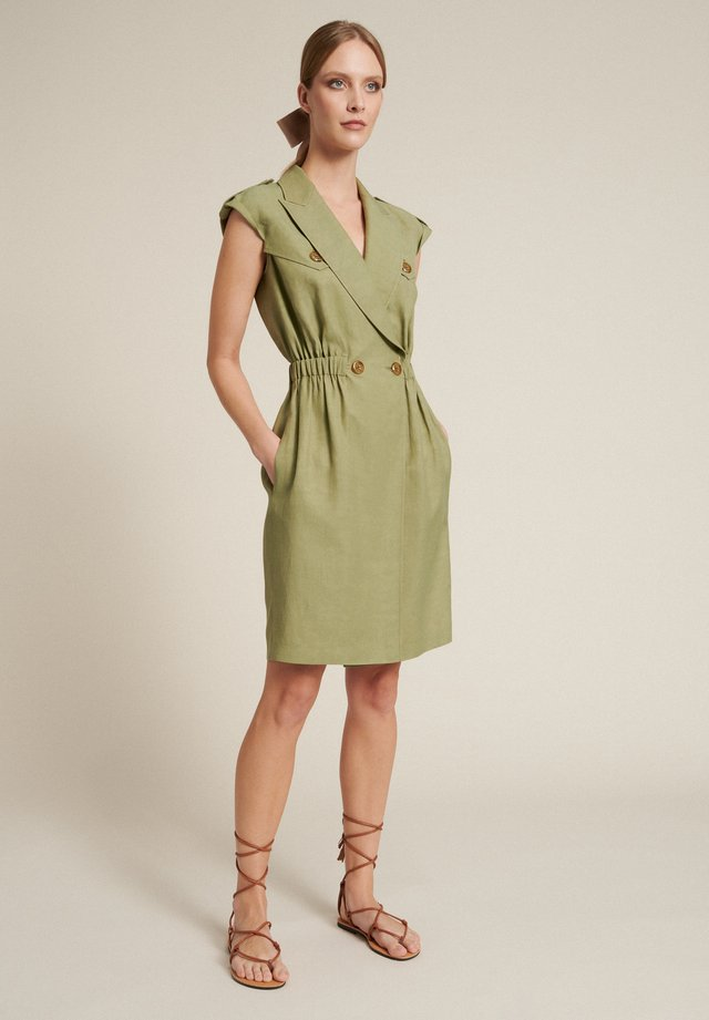 Denní šaty - verde militare