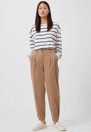 Trousers - dark beige