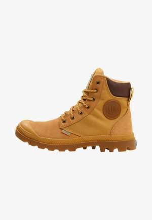 PAMPA SPORT CUFF WATERPROOF NYLON - Lace-up ankle boots - amber gold/mid gum