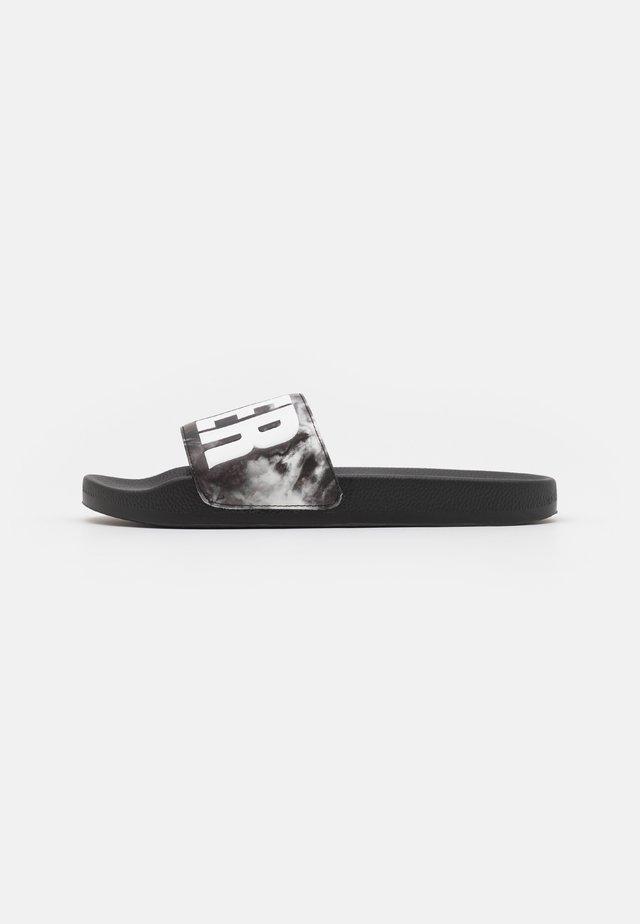 WASH EFFECT SLIDES - Pantofle - black