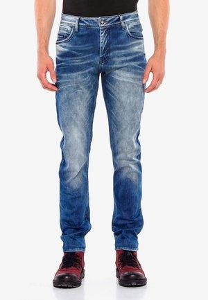 MIT AUFFÄLLIGER WASCHUNG - Straight leg jeans - blue
