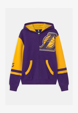 NBA LA LAKERS STRAIGHT TO THE LEAGUE FULL ZIP HOOD UNISEX - Mikina na zip - purple
