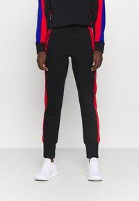 adidas Performance - BIG LOGO - Tuta - black/vivid red/bold blue - 3