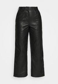 Deadwood - PRESLEY PANTS - Leather trousers - black - 2