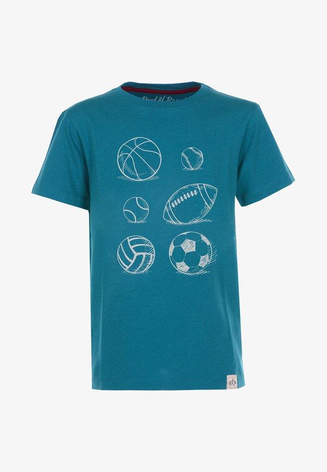 BALLS - Print T-shirt - petrol