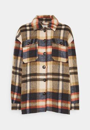 ONLMACI CHECK SHACKET - Winter jacket - humus/night sky/breen/faded rose