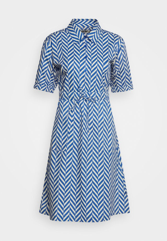 SUSANNE DRESS - Shirt dress - indigo/beige