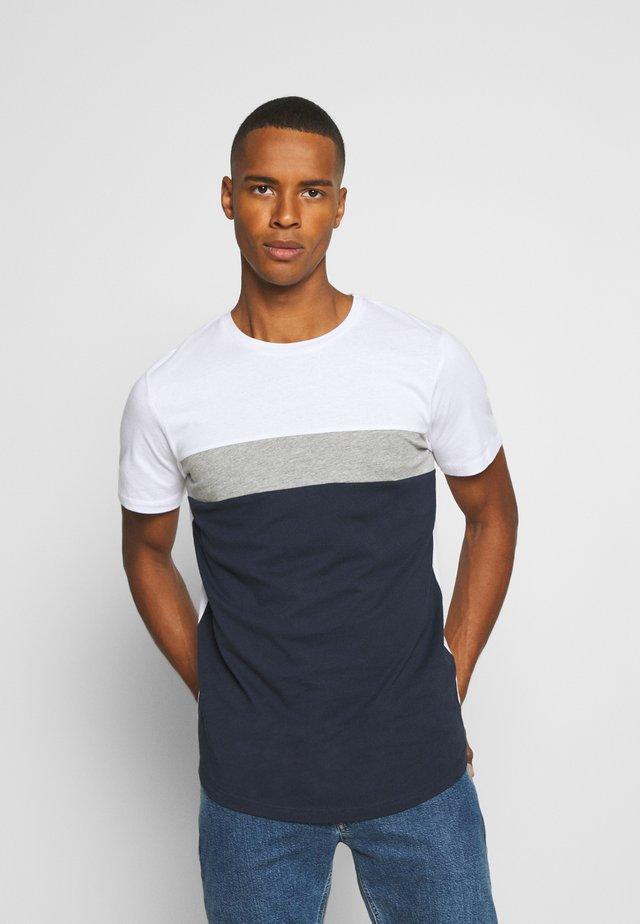 JORCALLIEE TEE CREW NECK - Triko spotiskem - navy blazer
