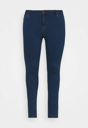VMJUDY SLIM CURVE - Džíny Slim Fit - medium blue denim
