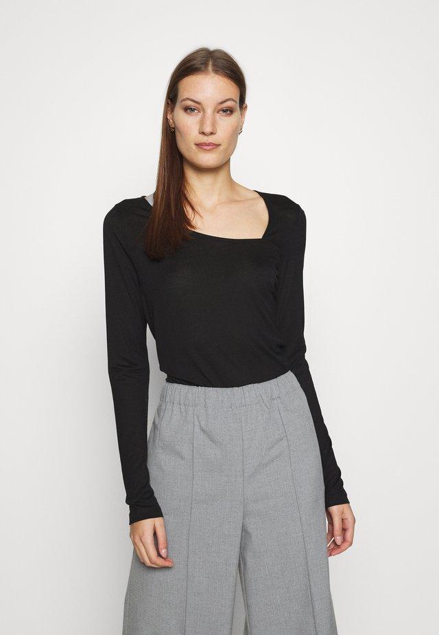 BENEDETTA - Maglietta a manica lunga - black