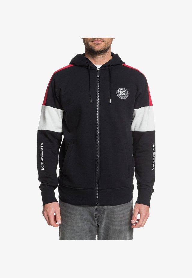 DC SHOES™ KIRTLAND - KAPUZENPULLI MIT REISSVERSCHLUSS FÜR MÄNNER  - veste en sweat zippée - black